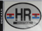 Croatia Country Flag Oval Decal.